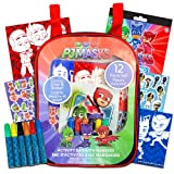 PJ Masks 12-Piece Coloring and Activity Backpack Bundle -- Childrens Drawing Pads and Books with Stickers and Markers and Bonus Stickers (PJ Masks Party Supplies) (Tamaño: Pest Repeller v.422)