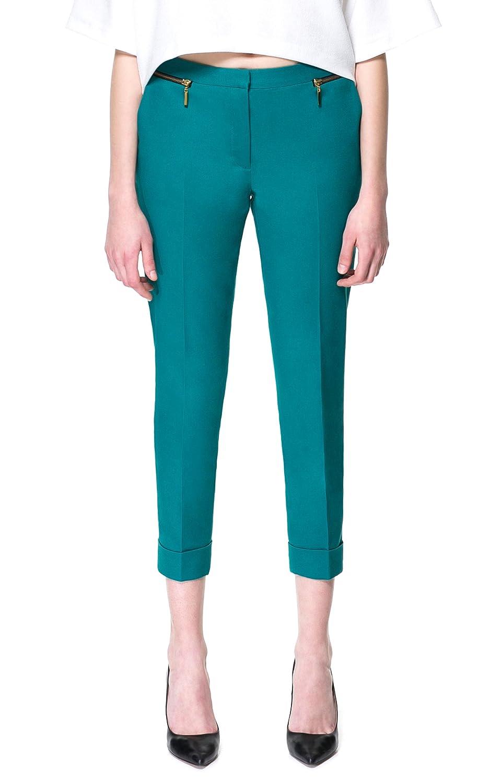 (アールポート) R-port レディース ジップ ポケット パンツ / グリーン L : 服&ファッション小物通販 | Amazon.co.jp