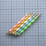 Double Sided Pottery Ball Stylus Dotting Tool Set for Embossing Pattern Clay Sculpting Nail Art Tool