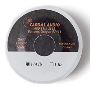 Cardas Soldering Wire Quad Eutectic Silver Solder with rosin flux 1/4 lbs (113g) roll (Color: Silver)
