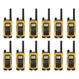 (12-Pack) Talkabout T402 Rechargeable Two-Way Radios Yellow Walkie Talkie