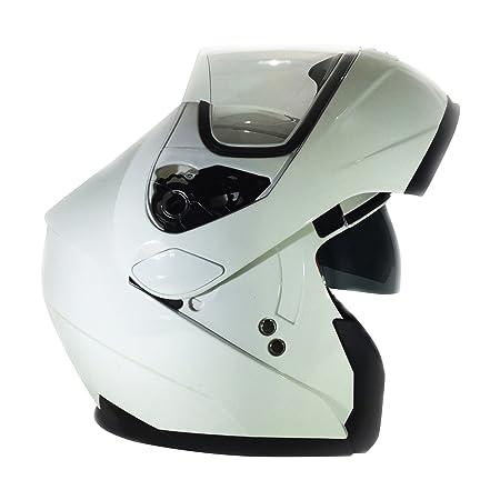 Retournez Viper 3GO E225 casque modulable casque moto blanc
