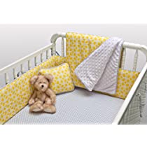 Kress Co - Modern Yellow and Gray Gender Neutral 9-Piece Crib Bedding Set