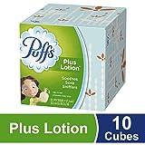 Puffs Plus Lotion Facial Tissues, 10 Cubes, 52 Tissues per Cube