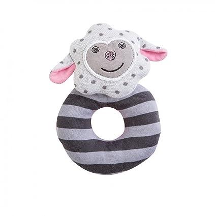 Amazon.com: Organic Farm Buddies Plush Rattle Dreamy Sheep: Baby