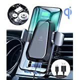 VANMASS Qi Wireless Car Charger Mount, Automatic Clamping, 10W/7.5W Fast Charging, Air Vent Motorized Cell Phone Holder for Car Compatible with iPhone Xs Max XR 8 Plus, Samsung S10 S9 S8, LG V30, etc (Color: Black, Tamaño: Universal Wireless Car Charger)