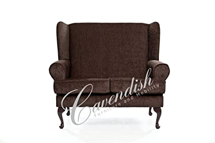 Cavendish Furniture 2-Seat Deep Seat Orthopaedic Sofa, Brown