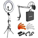 Neewer 18-inch Outer LED Ring Light and Condenser Microphone Kit for Live Stream