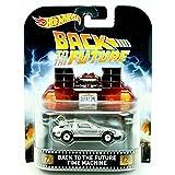Hot Wheels Retro Entertainment Series Back To The Future Time Machine Delorean Car