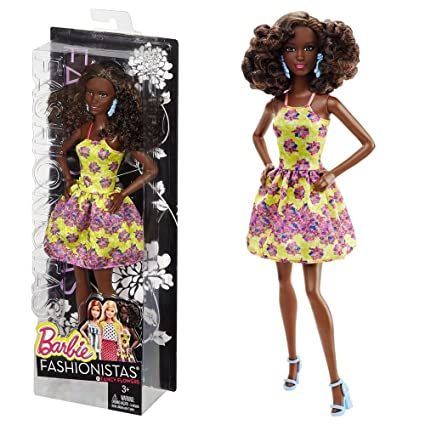 Barbie - DGY65 - Fashionistas - Robe A Fleurs - Jaune