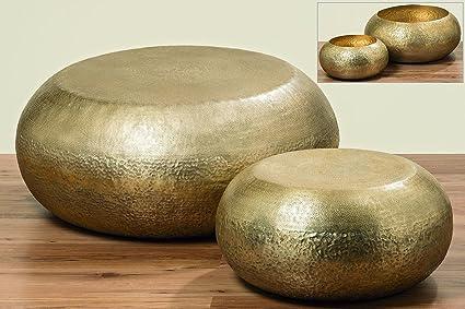 Couchtisch Marokko, gold, Ø50 cm