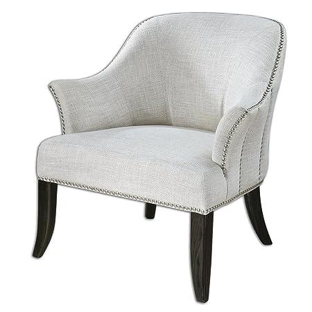 Leisa White Armchair