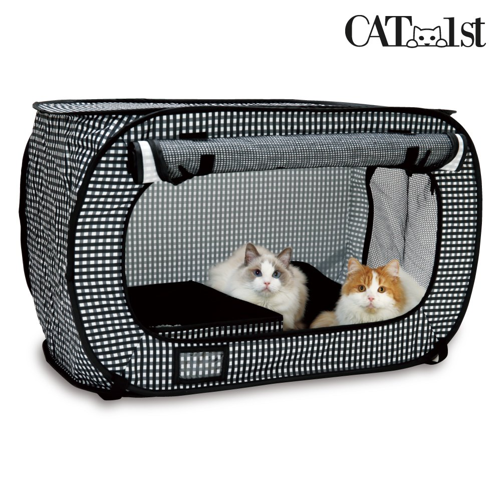 Cat1st Portable Pop Open Cat Kennel/travel/drive/cage/emergency/light Weight