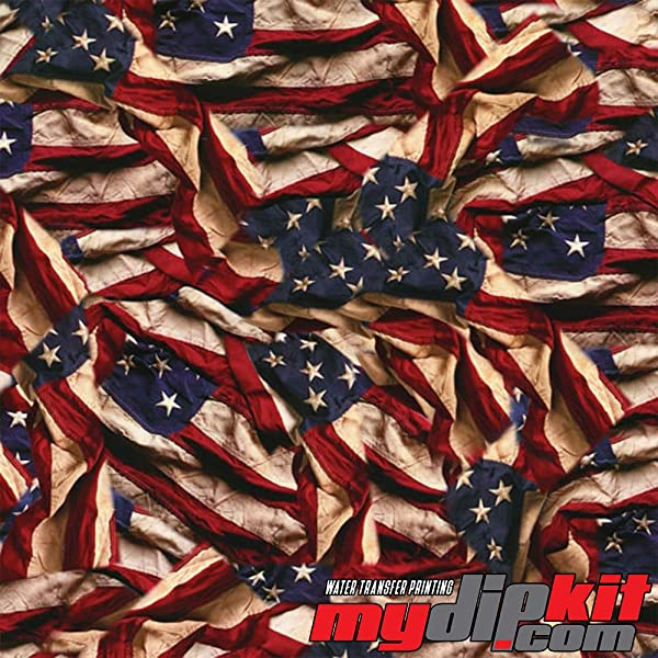 Water Transfer Printing Film - Hydrographic Film - Hydro Dipping - Respect American Flag - LL-739-A (Color: See Photo)