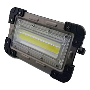 30 Watt Portable 2000 Lumen LED Work Light,Outdoor Flood Light, for Workshop,Construction Site, Building, Camping,Hiking,Car Repair, Rechargeable Battery Power Bank (Color: Silver)