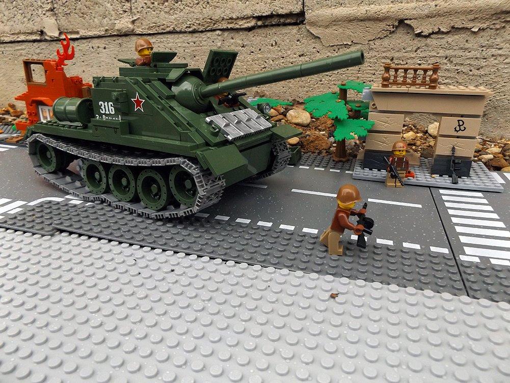 Modbrix 2467 – ☭ Rote Armee Jagdpanzer SU-85 Panzer inkl. custom Sowjetische Soldaten aus original Lego© Teilen ☭ online kaufen