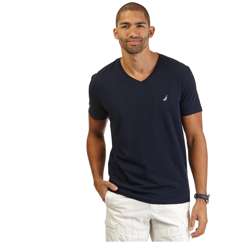 Nautica Men's Slim Fit Performance V-Neck Tee Shirt | eBay