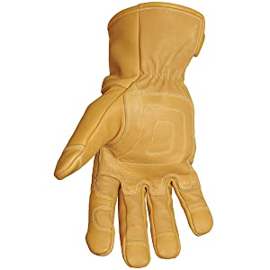 Youngstown Glove 11-3285-60-XXL Flame Resistant Waterproof Leather Utility Lined with Kevlar Gloves, 2X-Large (Color: Tan, Tamaño: XX-Large)