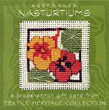 Textile Heritage Cross Stitch Mini Keepsake Card Kit - Nasturtiums