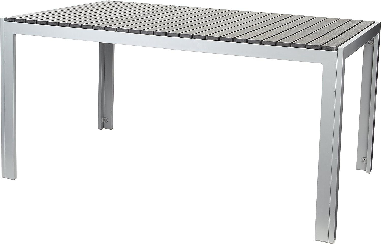 Gartenfreude Tisch Aluminium mit Non Wood Platte, Anthrazit, 150 x 90 cm jetzt bestellen