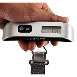 Camry 110lbs Luggage Scale with Temperature Sensor and Tare Function Without Backlight