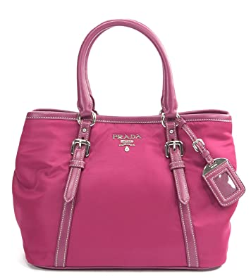 Prada Ibisco Pink Nylon Soft Calf Leather Bauletto Aperto Satchel ...