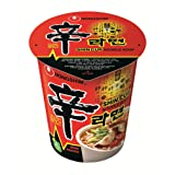 NongShim Shin Cup Noodle Soup, Gourmet Spicy, 2.64 Ounce (Pack of 12) (Tamaño: pack of 12)