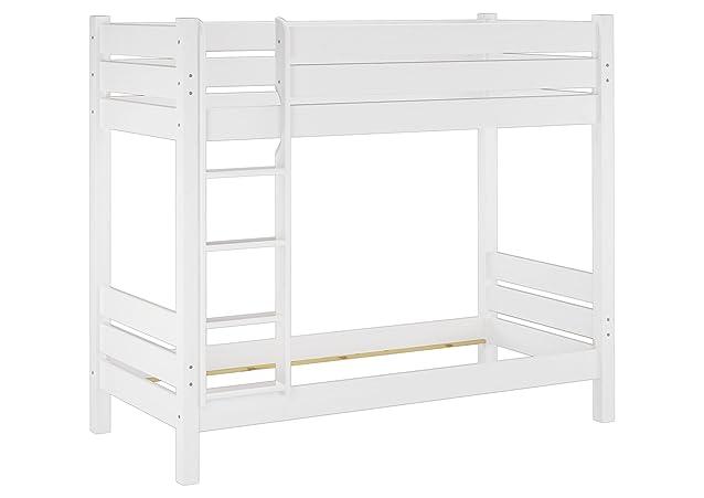 Solido bianco telaio letto castello in pino Eco 100x200 anche PER ADULTI 60.16-10 W oR