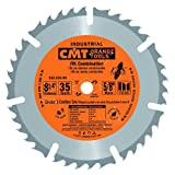 CMT 256.035.08 ITK Industrial Combination Saw Blade, 8-8-1/4-Inch x 35 Teeth 1FTG+4ATB Grind with 5/8-Inch<> Bore (Tamaño: D 8-8-1/4 203mm | T 35 | B 5/8 | K .075 | P .047)