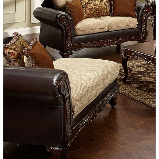 Chelsea Home Furniture Trixie Chaise, Radar Havana/Bi-Cast Brown