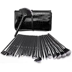 32-Piece USpicy Makeup Brushes Cosmetics Professional Set with Travel Pouch