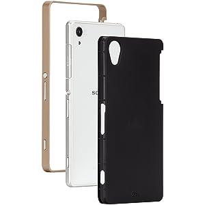 Case-Mate - Carcasa rígida para Sony Xperia Z2, color negro y oro - Electrónica - revisión y más información