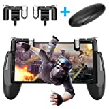 New Mobile Game Controller and joystick,Gamepad Survival Game Triggers for Knives Out/PUBG/Fortnite/Rules of Survial, Ergonomic Design for 4.5-6.5inch Android IOS Phones Game grip (Color: Black)