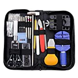 Watch Repair Kit, Professional Watch Battery Replacement Tool Link Remover Deluxe Watch Band Tool Set with Carrying Case for Repairing Quartz/Mechanical Wrist Watch, Citizen Watches and More 149 PCS (Color: Black, Tamaño: Medium)