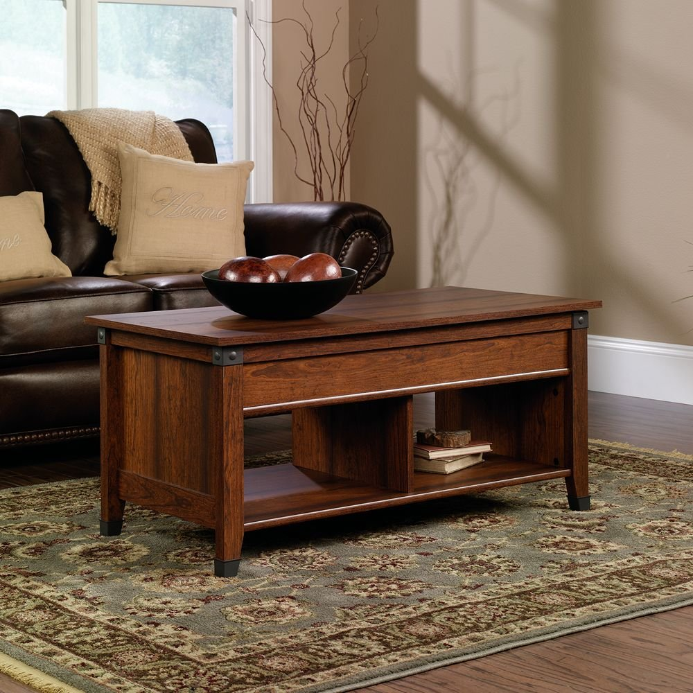 Contemporary washington cherry lift top coffee table for Coffee tables ebay australia