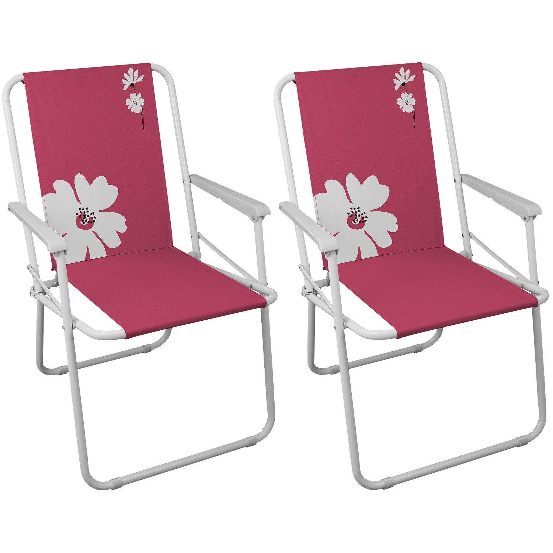 2 Stück Campingstühle Gartenstuhl Klappstuhl – Pink Campingmöbel Gartenmöbel Strandstuhl günstig online kaufen