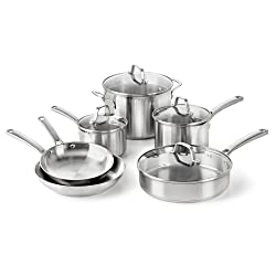 Calphalon Classic Stainless Steel Cookware, Set, 10-Piece Review