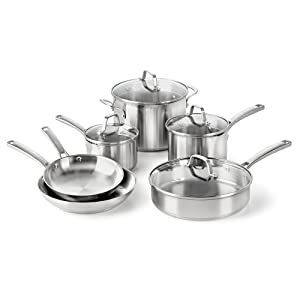 Calphalon Classic Stainless Steel Cookware, Set, 10-Piece