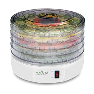 NutriChef Kitchen Electric Countertop Food Dehydrator