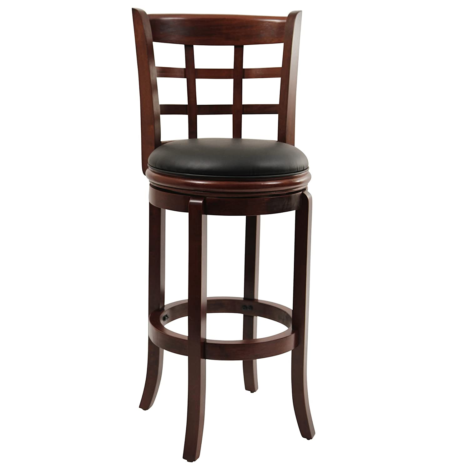 Very Impressive portraiture of Cheap High Wooden Swivel Bar Stools with Back 29 Inch Cherry with #603D33 color and 1500x1500 pixels
