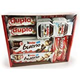 Ferrero Variety Pack 24 ct Assorted Hazelnut Chocolates & Hazelnut Spread - Kinder Bueno   Kinder Bueno White   Nutella   Tronky   Duplo