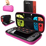 Orzly Carry Case Compatible With Nintendo Switch - PINK Protective Hard Portable Travel Carry Case Shell Pouch for Nintendo Switch Console & Accessories (Color: PINK Carry Case for Nintendo Switch)