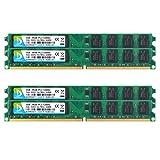 DUOMEIQI 8GB Kit (4 X 2GB) DDR2 667MHz UDIMM 2RX8 PC2-5300 PC2-5400 240pin CL5 1.8v Unbuffered Non-ECC Dual Channel Desktop Memory RAM Module for Intel AMD System (Color: 4X2GB Small Board, Tamaño: UDIMM Small Board)