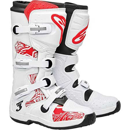 Alpinestars - Bottes cross - TECH 3 GRAPHIC - Couleur : Blanc/Rouge - Pointure : 11