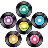 Record Cutouts 1950's Rock and Roll Music Party Two Sided Decoration 30pcs 7 Inches