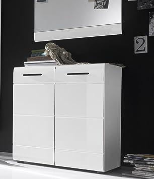 hot sale online ca83f a93f0 trendteam 1116-867-01 Schuhschrank Schuhkommode Skin in weiß Hochglanz  (B H T) 71 x 76 x 34 cm - kdjhkfhm