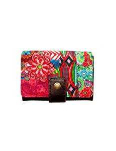 Desigual Mone Lengueta Seduccio Carry, Portefeuille - Multicolore (7005 Caldera), Taille Unique   Commentaires en ligne plus informations