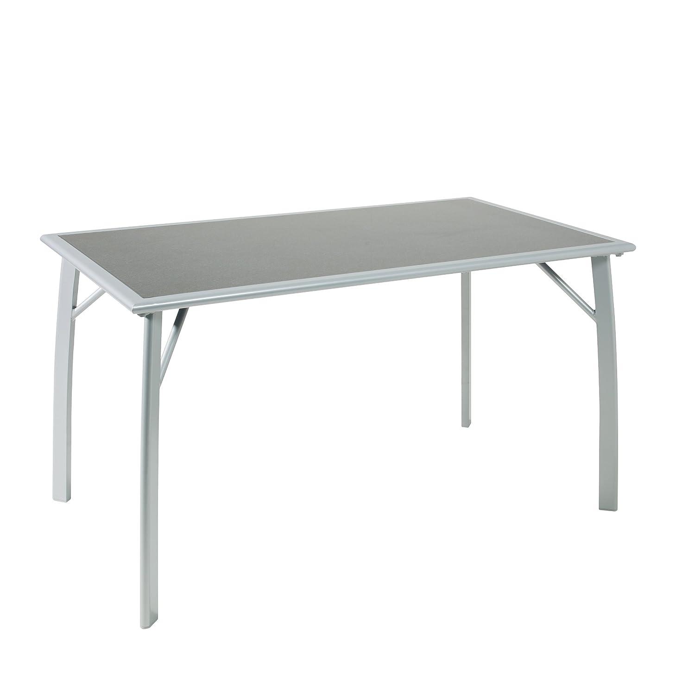 greemotion 427626 Glastisch Porto, 140 x 80 x 74 cm, Stahl, silber/Granit günstig kaufen