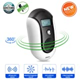 ZMKDLL Pest Repellent Ultrasound Ultrasonic Pest Repeller Electronic Control Smart Bug Repeller Plug Squirrel Repellent to Repel and Prevent Mouse,Ant,Mosquito,Spider,Rodent,Roach,Rats,Flea,Insect