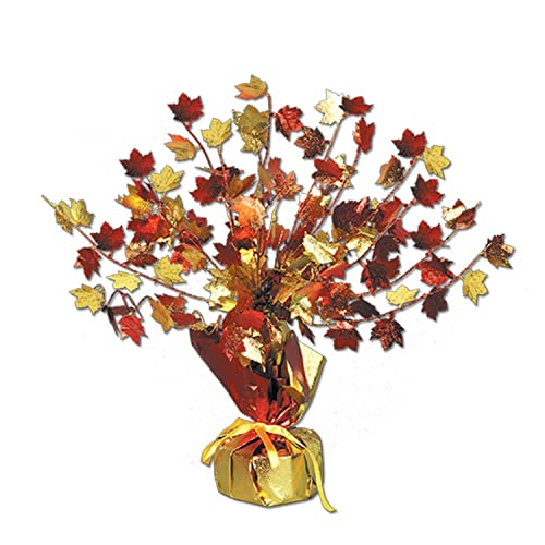 Beistle Company Mens Fall Leaves Gleam N Burst Centerpiece